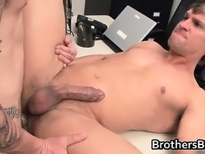 Brad gets his gay ass rimmed and licked part3