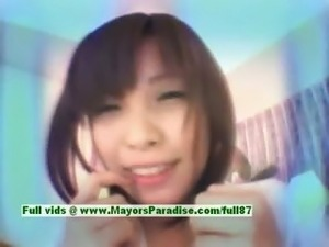 Ayane Sakurada innocent cute asian schoolgirl gets teased