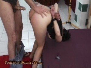 Czech wannabe tied and rough fucked free