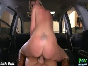 Blonde Nikki Benz fuck cock in POV free