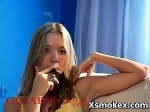 Whooping Ferocious Smoking Gal Explicit Makeout