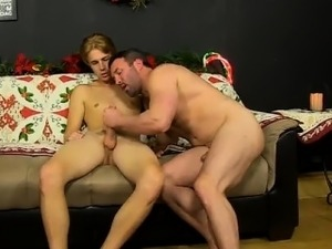 Nude men Patrick Kennedy catches hunky muscle man Santa deli