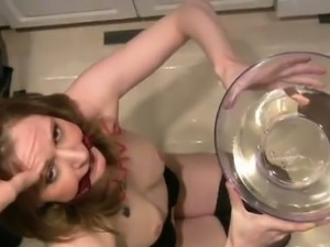 Pissing humiliation BDSM with submissive girl