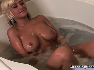 Big boobed blonde babe getting so sexy part4