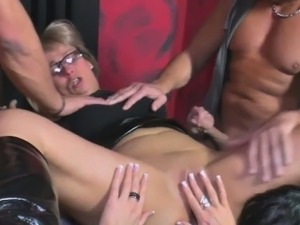 A mature swinger gets pinned down, licked and fucked hard
