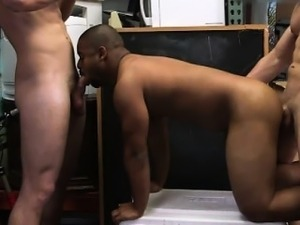 Straight black guys pawnshop spitroast