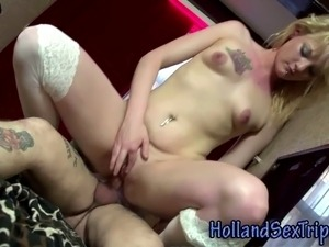 Euro hooker gets cumshot after intense dickride in hi def