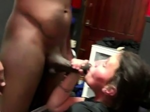 Dutch hooker sucks black cock