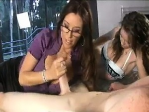 Milf Shares Studs Cock With The Teen To Make Him Spurt