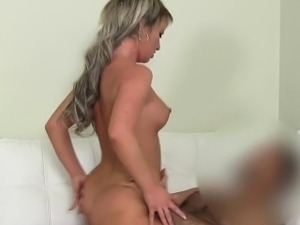 Fake agent fucks blonde amateur babe couch euro