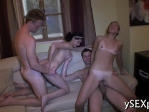 Lovely bitches enjoy hot sex