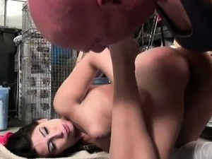 Old Man Fucking Pretty Brunette Teen Girl On Floor