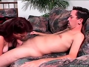 Sexy and nasty brunette mature slut gets horny with her man