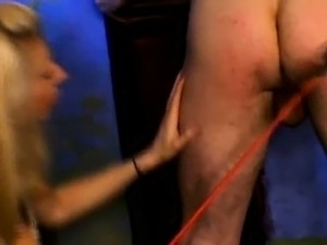 wife spanks husband ass