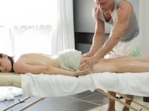 Big breast Russian female gets a voluptuous massage
