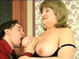 Mature Womans Breasts Being Played With