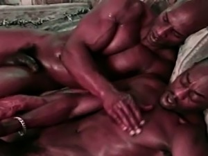 Two Black Gay Gangsta do Anal Fucking on Couch