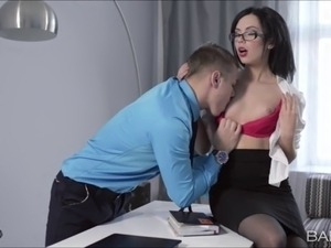 Beautiful Vi gets fucked in the office by her boss big