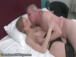 Cute blonde babe gets her tits sucked part2