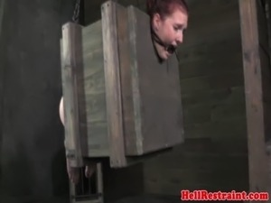 Tied up bdsm sub fingered in asshole free