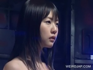 Japanese slave getting clit rubbed free