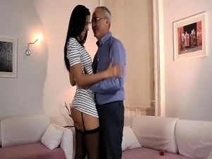 Gorgeous and sexy brunette is fucked part1