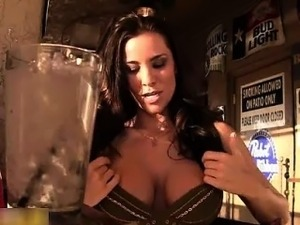 Busty brunette babe gets horny showing part3