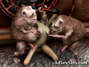 Weird Creatures Fuck 3D Chicks!