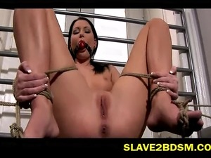 Watch these girls first slave training experience, see their ripe bodies...