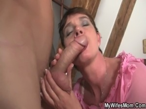 Horny mother in law seduces him free