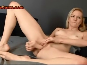 Slim Blonde Babe With Tiny Tits Rides A Big Cock Hard While Talking Dirty