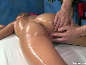 Ella seduced and fucked hard after her free massage!