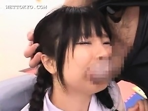 Lustful asian schoolgirl gets slurping cunt fingered