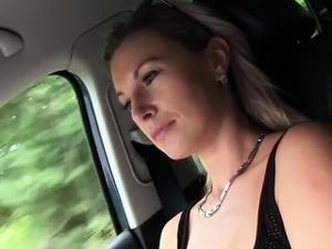 Hard car sex with Alena a Hot horny Milf