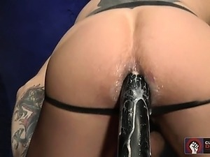 Morgan Black in leather mask does assplay with Cylus Kohaan