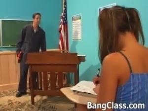 Schoolgirl gets fucked in the classroom free