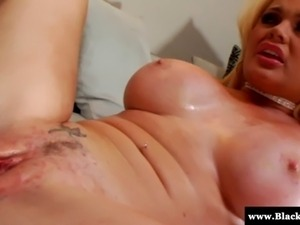 Blonde white Alexis Ford loves getting BBC pounding her spread open pussy