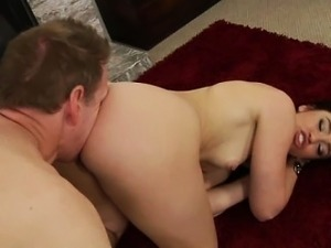 Anal loving brunette getting rimjob