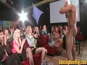 Ebony Teen gets Jizzed on Glasses by Stripper - DancingBearOrgy.com free