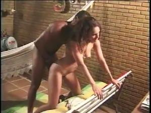 hot brazilian girl gets a hot cum on her ass