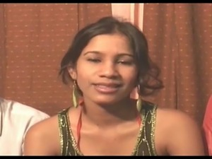 First anal Threeway for this cute Indian babe.