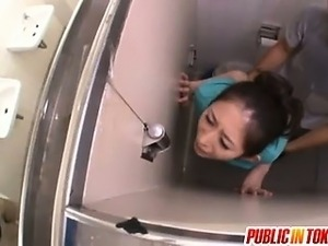 A Surprise Doggy Style Toilet Fuck For Miku Hasegawa