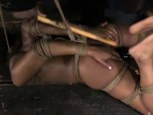 Breast tied skank being punished