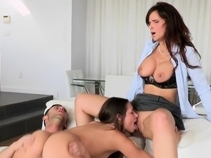 Horny Stepmom Has Sex With Young Teen Couple