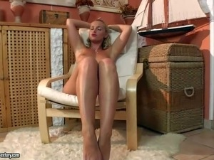 Kathia Nobili is one lovely blonde with adorable bubble ass.
