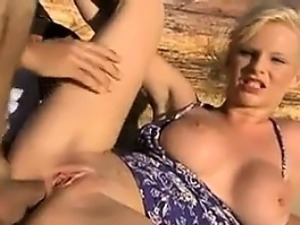 Blonde Babe Anal Fucked At The Beach
