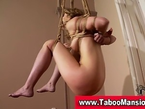 Hot blonde bound hoe gets her pussy toyed in hi definition