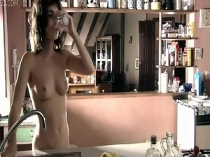 Enjoy the stunning and natural Paz Vega walking around with no clothes on -...