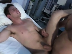 Muscular doctor ass fucking a male nurse