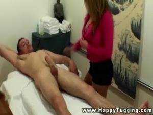 Busty asian masseuse licking customers balls free